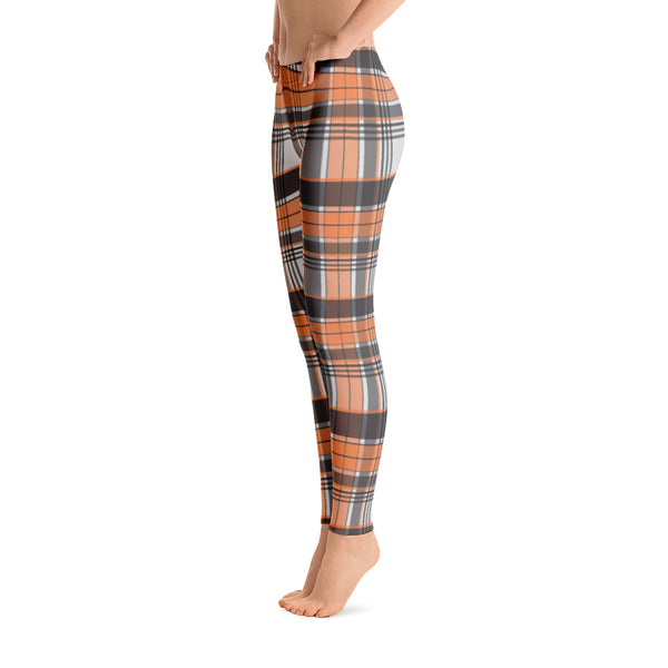 Mad About Plaid Leggings in Orange