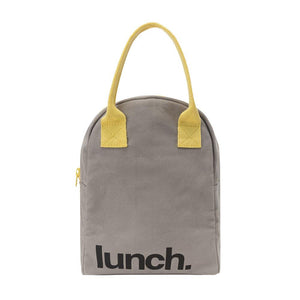 Grey Zipper Lunch Bag