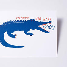 Alligator Snappy Birthday Card