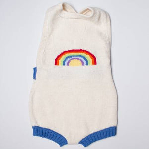 Sleeveless Organic Baby Romper with Rainbow