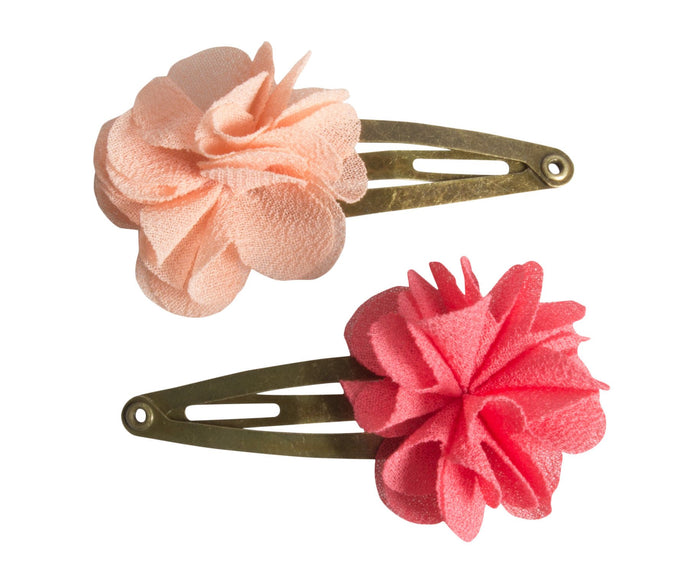 Fluffy Flower Hair Clips