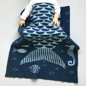 Mermaid Lambswool Mini Blanket