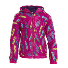 Pink Feather Color Changing Raincoat