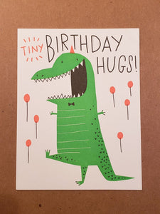 Tiny Hugs Birthday Card