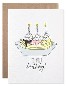 Happy Birthday Banana Split Card