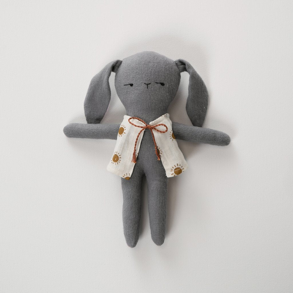 Gray Bunny Doll with Vest