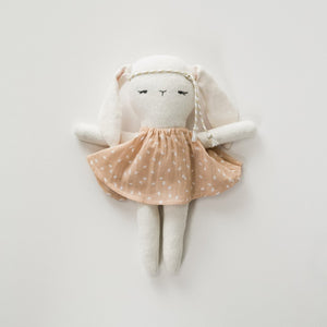 White Bunny Doll with Dress