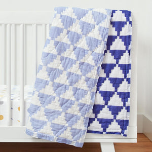 Organic Inca Blue Toddler Quilt
