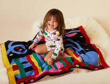 Lorries Knit Blanket