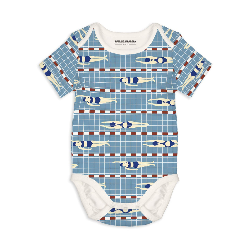 Swim Short Sleeve Baby Bodysuit