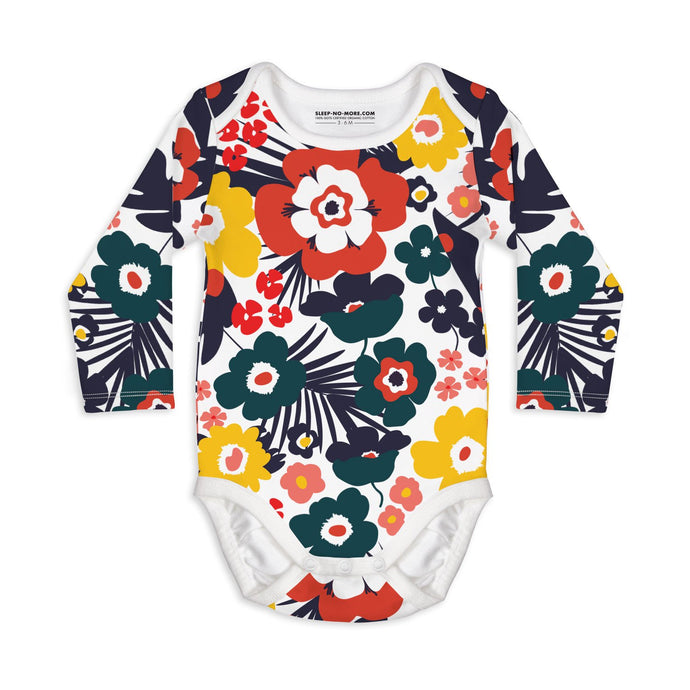 Floral Long Sleeve Baby Bodysuit