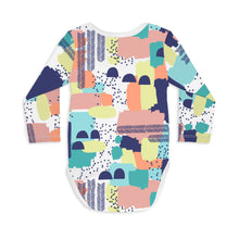 Color Swatch Long Sleeve Baby Bodysuit