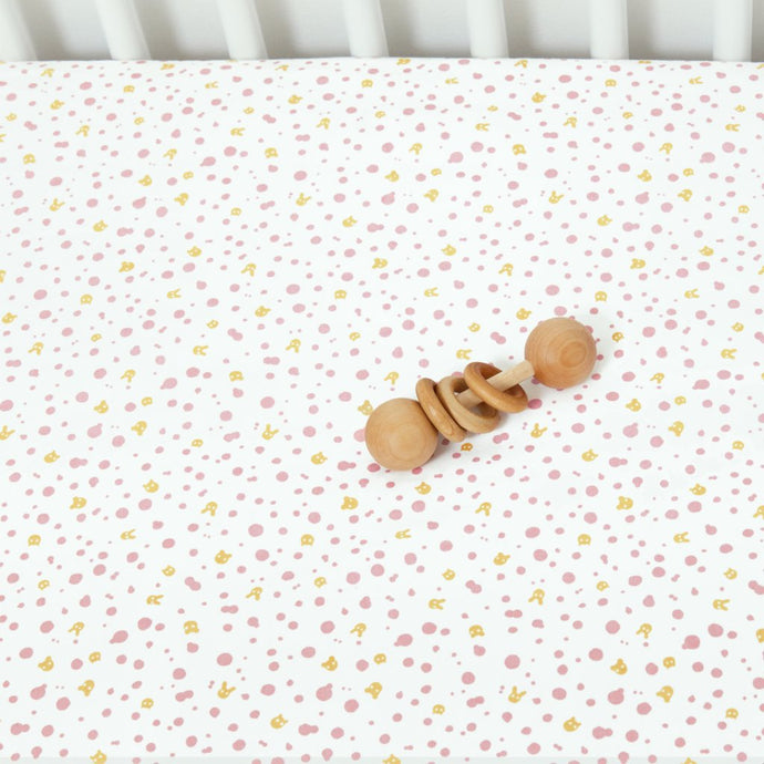 Organic Pinkspot Crib/Toddler Sheet