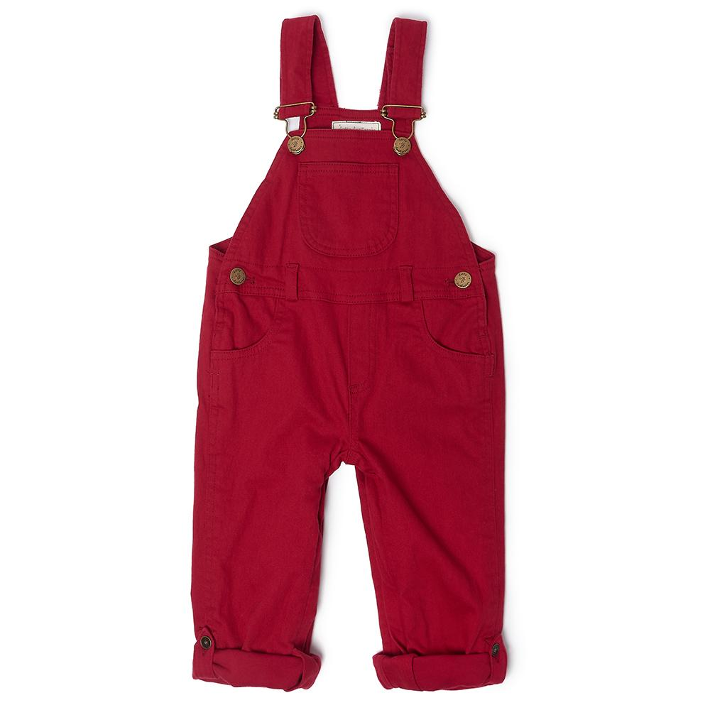 Red Denim Dungarees