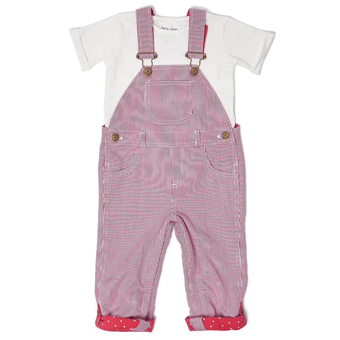Red Stripe Dungarees