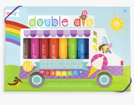 Double Dip Double Ended Scented Markers - Set of 12