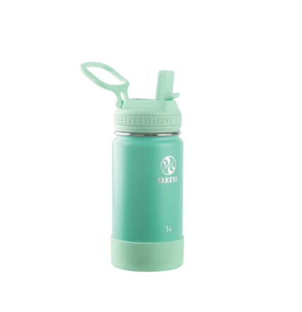14oz Kids Insulated Water Bottle With Straw Lid
