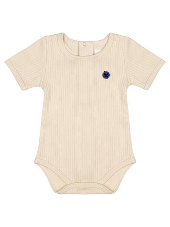 Organic Cotton Short Sleeve Ribbed Onesie