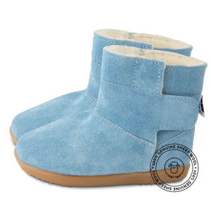Blue Wool Boots