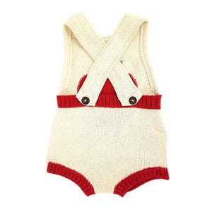 Sleeveless Organic Baby Romper with Apple