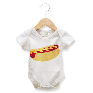 Organic Hot Dog Baby One-Piece
