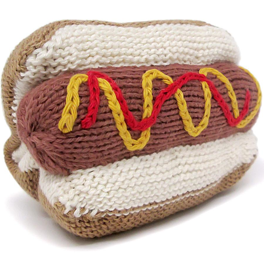 Organic Hot Dog Rattle