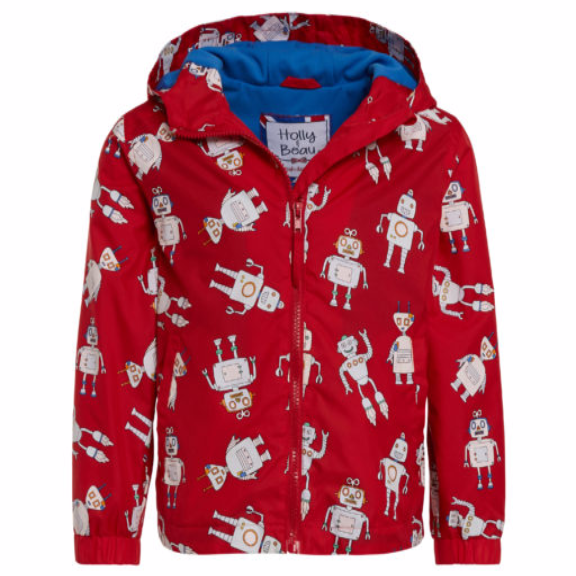 Red Robot Color Changing Raincoat