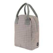 Grid Zipper Lunch Bag