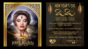 New Year's Eve Miami Beach 2020 Dinner, Show & Party at the National Hotel organized by French & Famous: A 1001 Nights party!