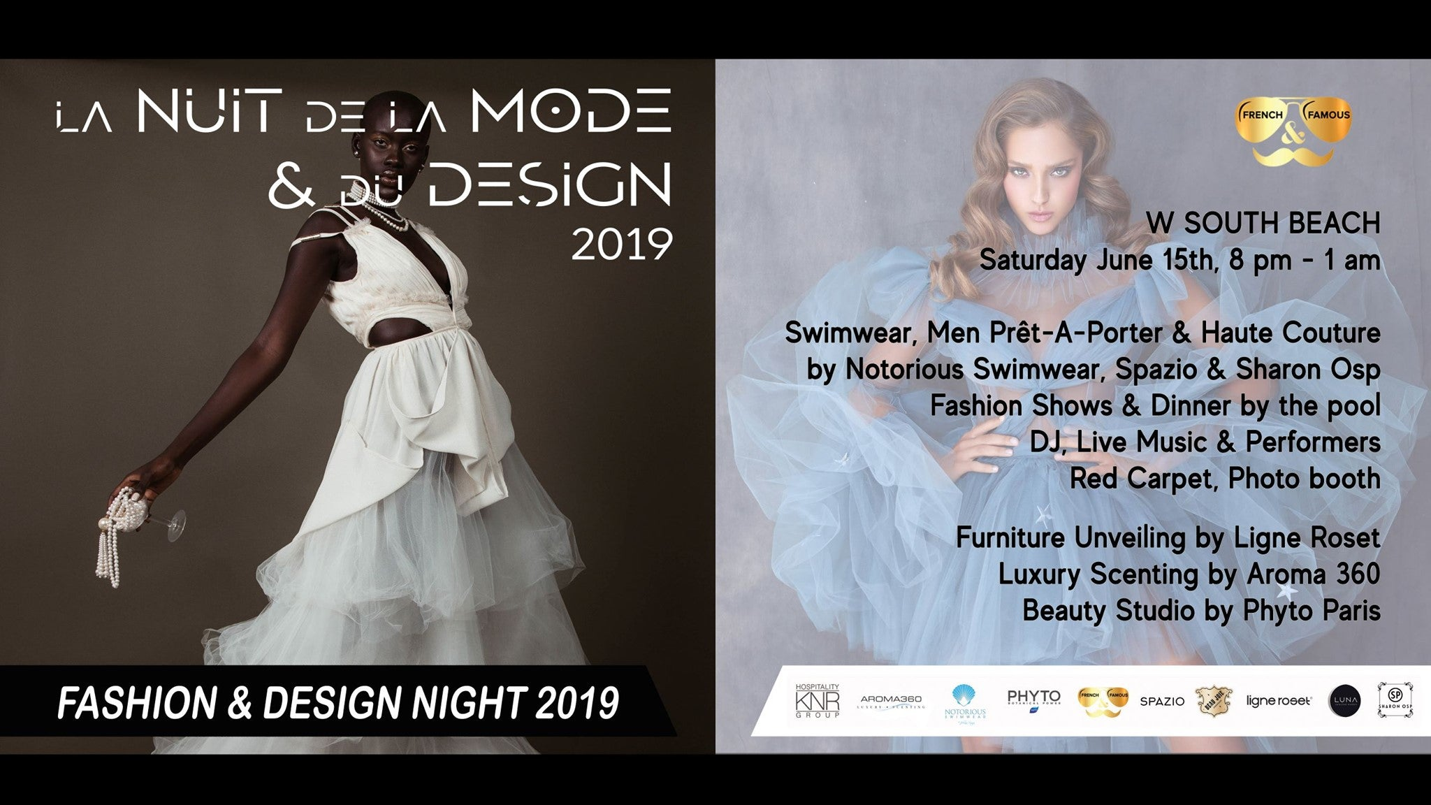 La Nuit de la Mode et du Design 2019 by French & Famous