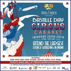 Flyer Bastille Day Miami 2018 at Nikki Beach by French and Famous