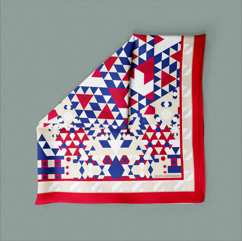 Red Americana Pocket Square