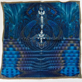 Blue Silk Pocket Square,