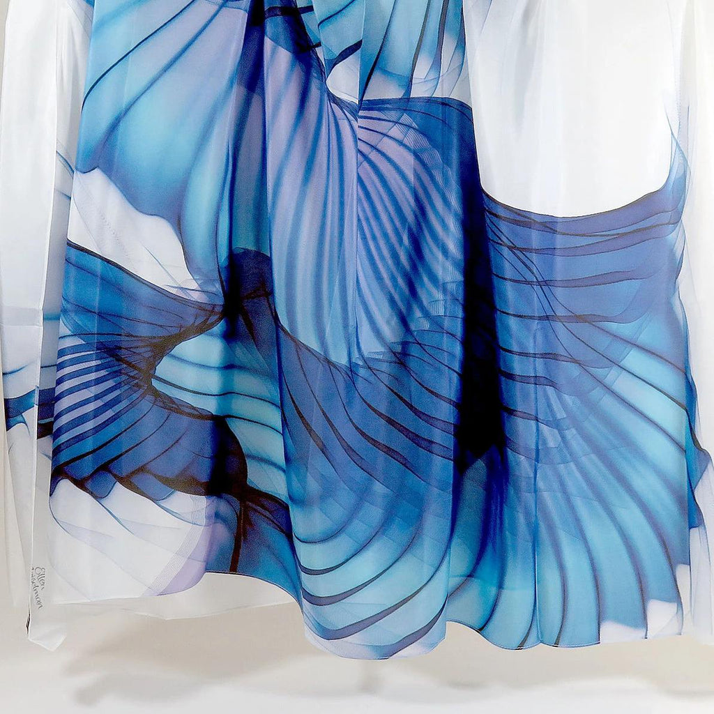 Womens silk scarf, Silk Habotai Abstract Wings scarf | scarvesbyellen