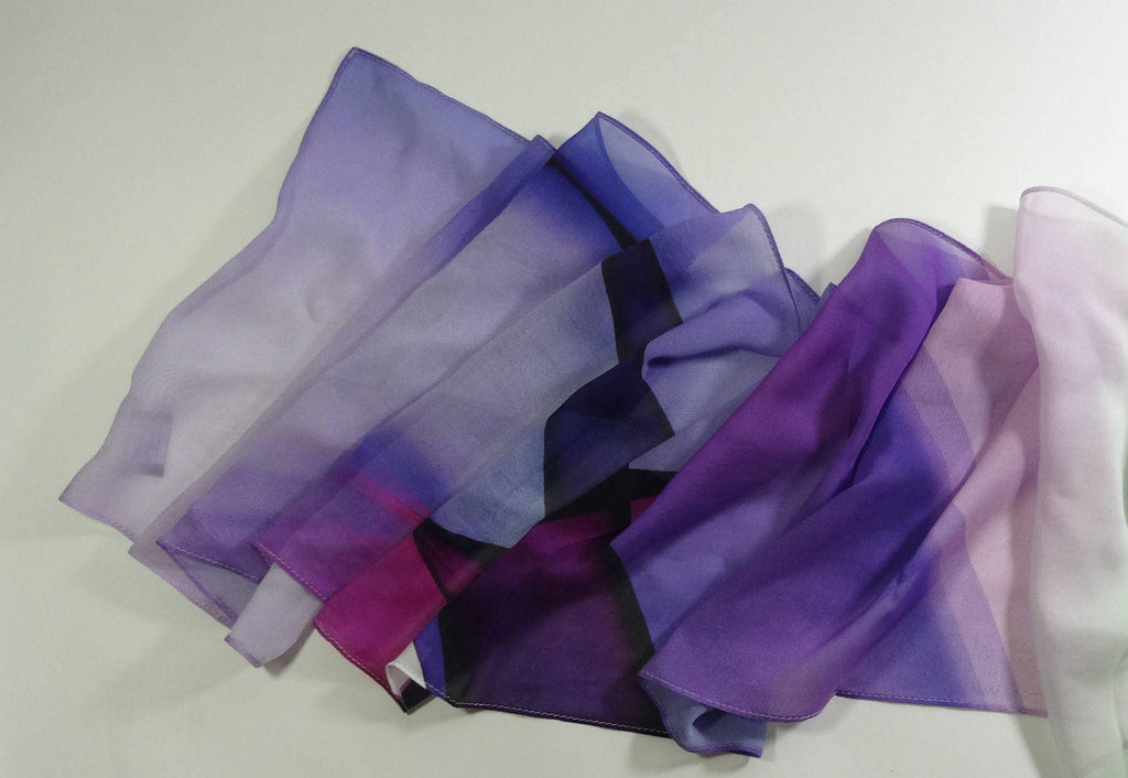 Scarves for women, Purple Ombre Scarf, Silk Chiffon Women's scarf, Violet Magenta Purple, Gifts for her