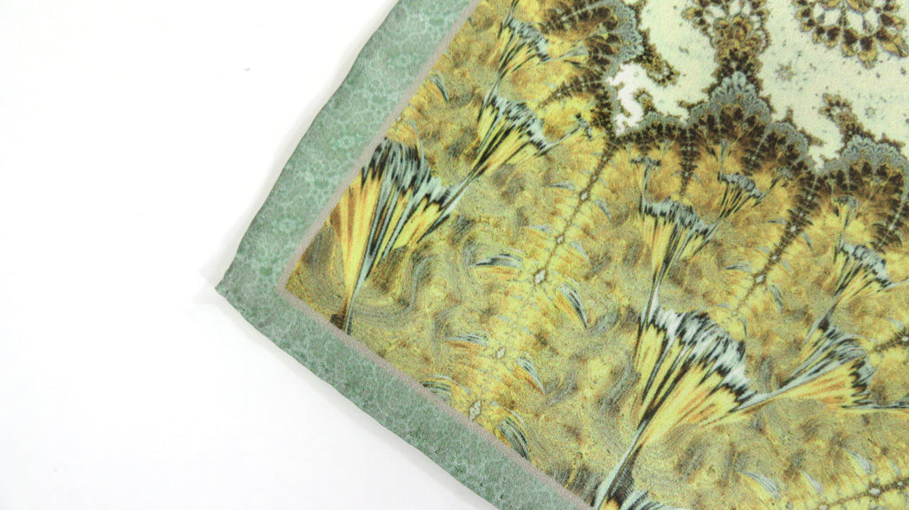 "Silk Pocket Square Mens, ""Nautical Chart"", Silk handkerchief, Fractal Design, Unique gifts for Men, Best Man, Boyfriend Husband gift 