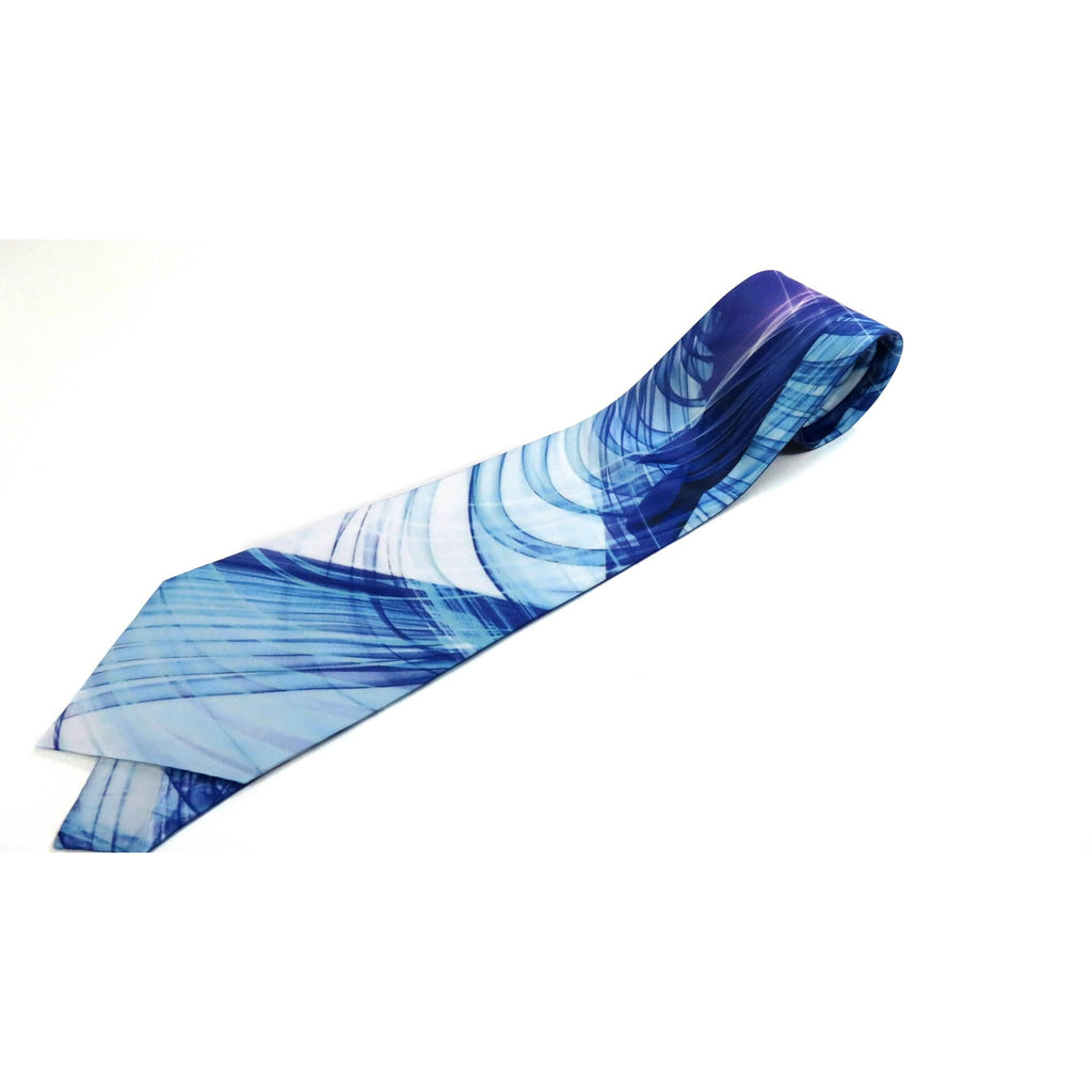 Men's Necktie, Blue Violet, Mathematical gifts, Abstract Digital Print on Polyester, gifts for men, Father's Day, birthday gift -ScarvesByEllen
