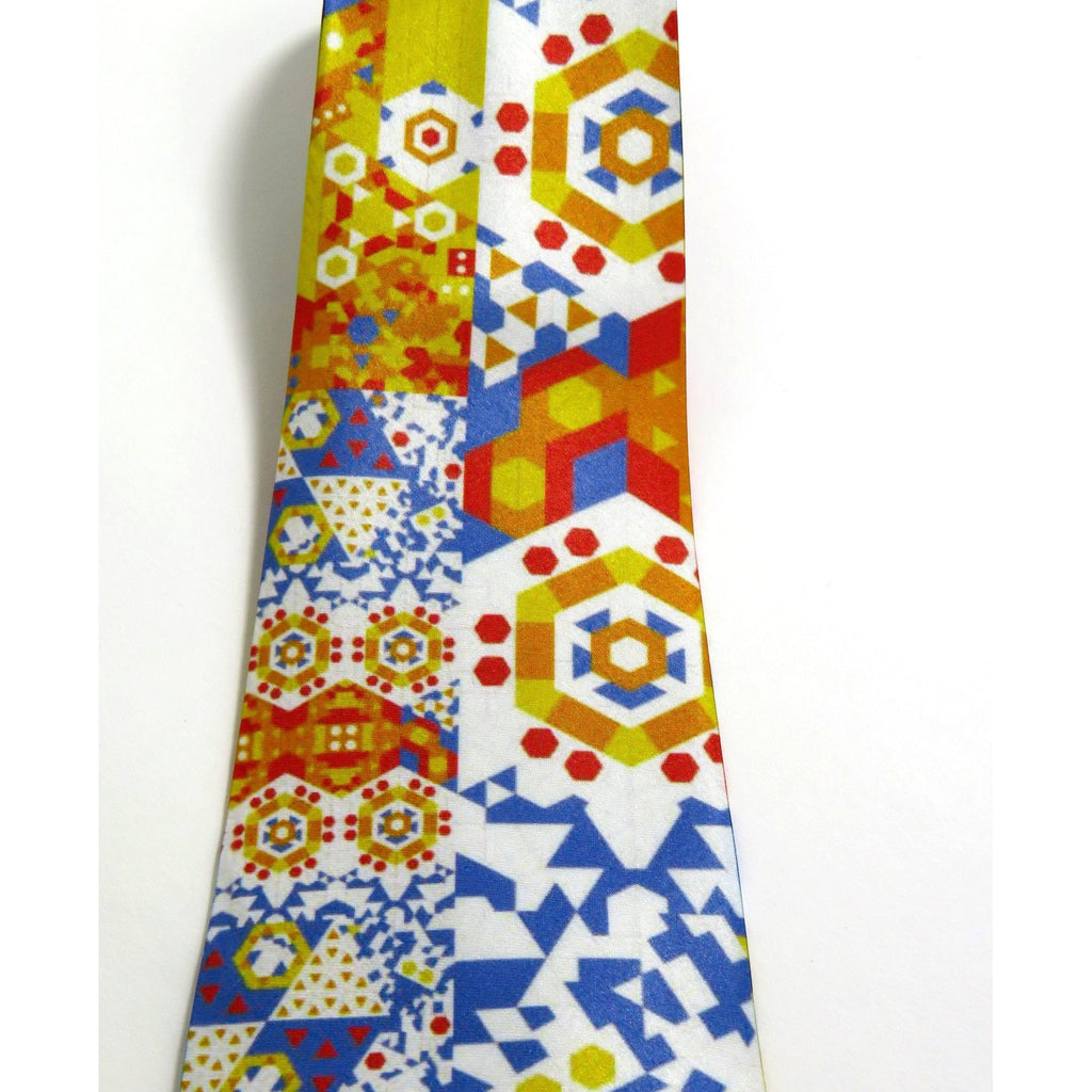 Men's Necktie, Red, Yellow, Blue, Mathematical gifts, Science gifts, Digital Print on Polyester, gifts for men, Father's Day -ScarvesByEllen