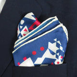 Mens Silk Pocket Square, Fractal Silk handkerchief,