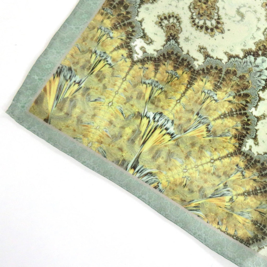 "Silk Pocket Square Mens, ""Nautical Chart"", Silk handkerchief, Fractal Design, Unique gifts for Men, Best Man, Boyfriend Husband gift -ScarvesByEllen"
