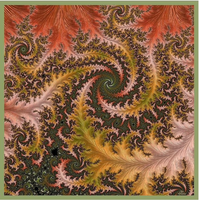 "Silk Satin Scarf for Woman, 36"" Square Double-sided Digital Print in Gold, Green and Red, Birthday Gift, Festival Scarf -ScarvesByEllen"