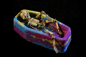 Skeleton self care coffin bath bomb