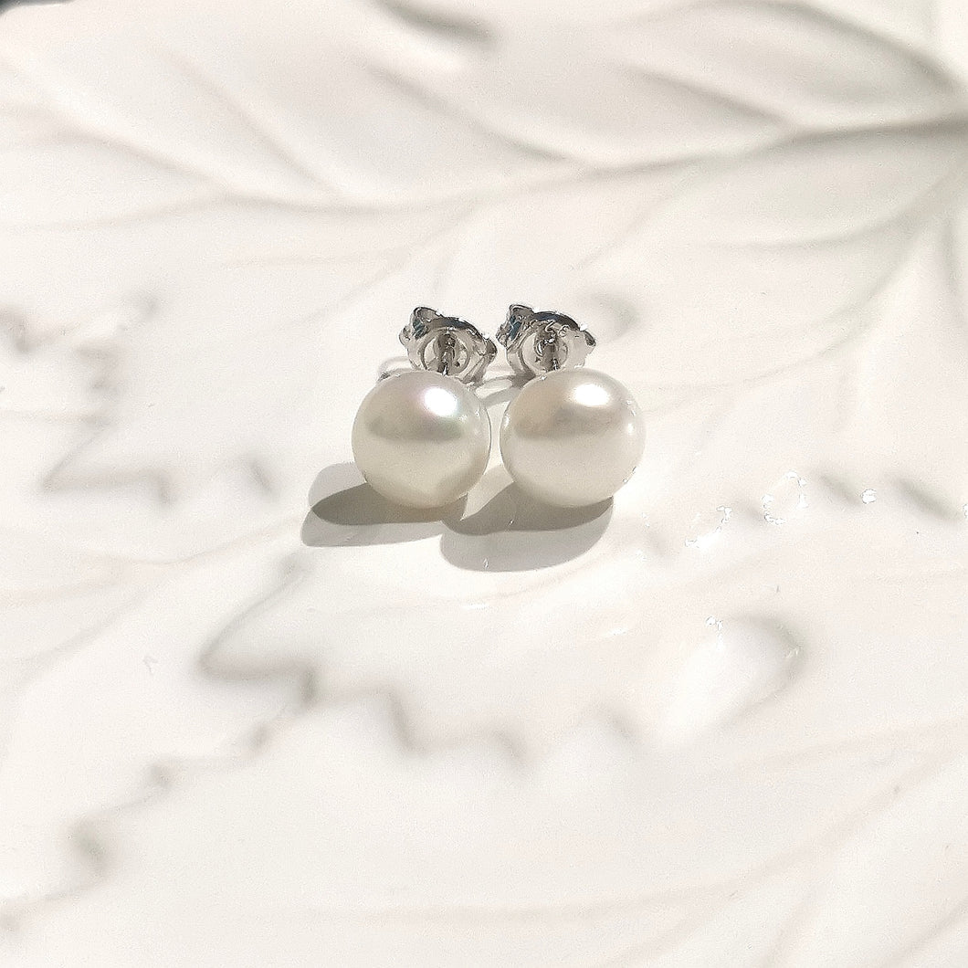 Pearl Studs Button 8mm