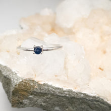 Blue Sapphire Silver Stacker