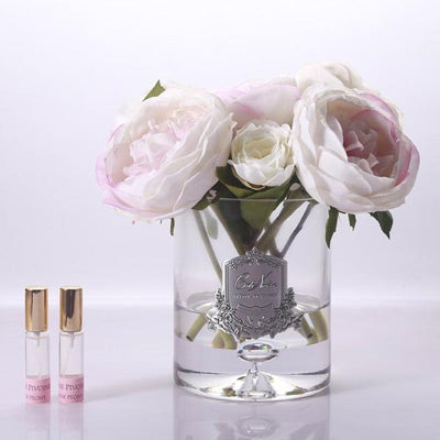 Cote Noire - Peonies Clear Glass
