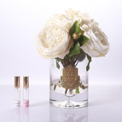 Cote Noire - Peonies & Hydrangeas Clear Glass