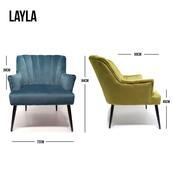 layla velvet occasional chair the furniture store