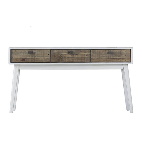 Brooklyn Hall Table - White - 3 Drawer - The Furniture Store & The Bed Shop