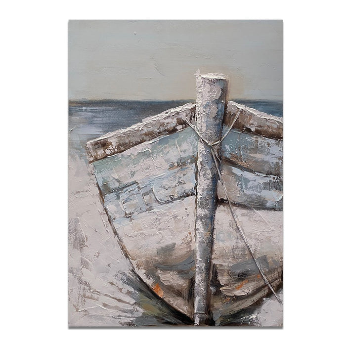 Canvas Art - Blue Row Boat