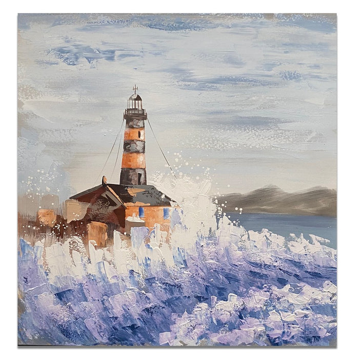 Canvas Art - Lighthouse Rock